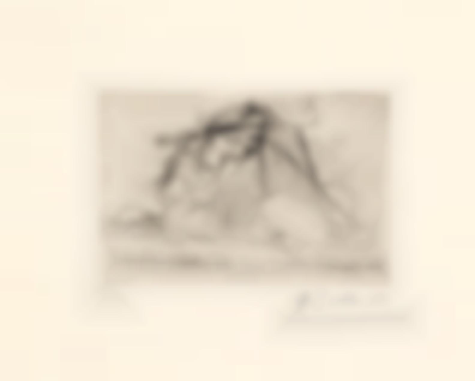 Pablo Picasso-Au Bord De La Riviere. Le Couple Dans Lherbe(Bloch 72; Baer 116)-1925