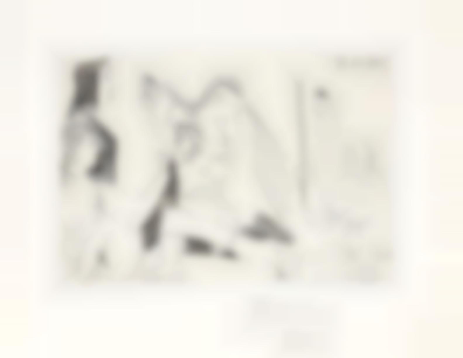 Pablo Picasso-Barbu En Colere, Avec Deux Femmes Indifferentes Et Deux Spectateurs, From El Entierro Del Conde Orgaz (Bloch 1470; Baer 1381)-1966