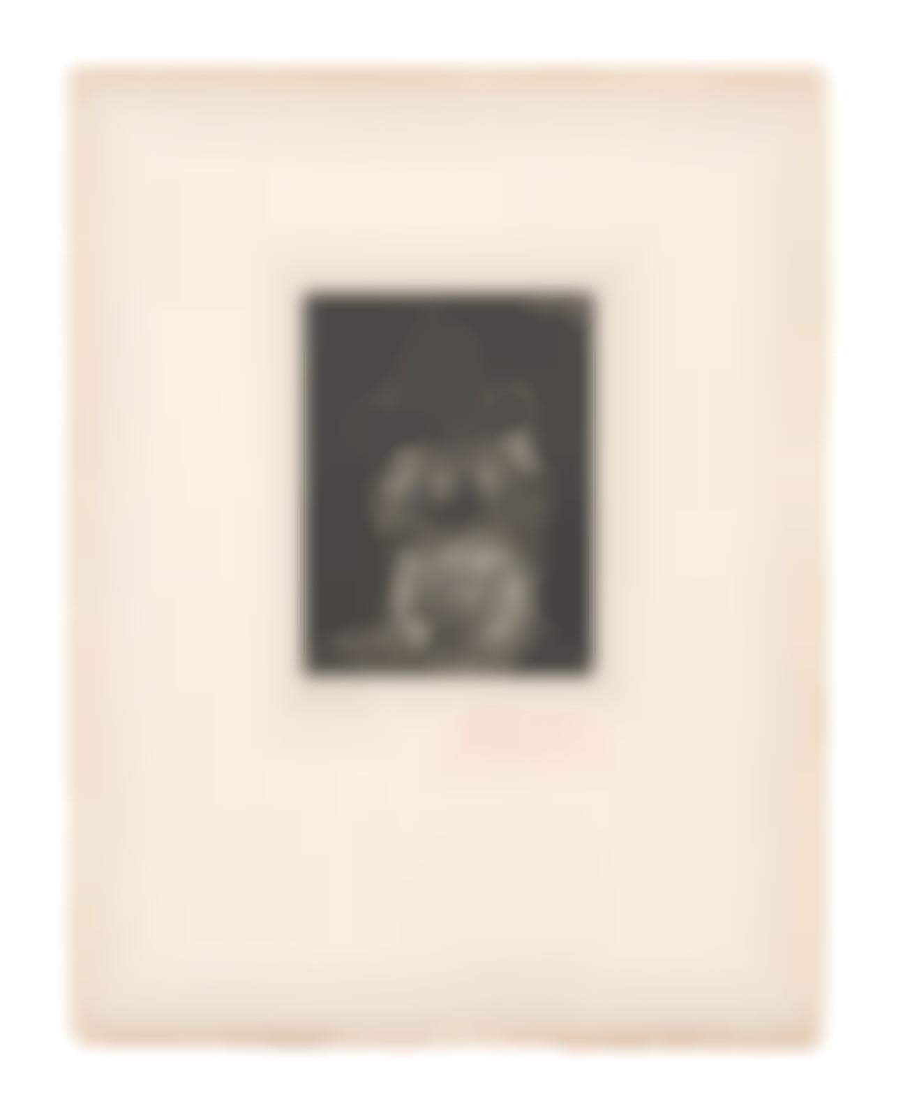 Pablo Picasso-Buste Dhomme Barbu Au Chapeau, From Lhospital De La Santa Creu I De Sant Pau (Bloch2014, Baer 1989, Cramer Books 151)-1971