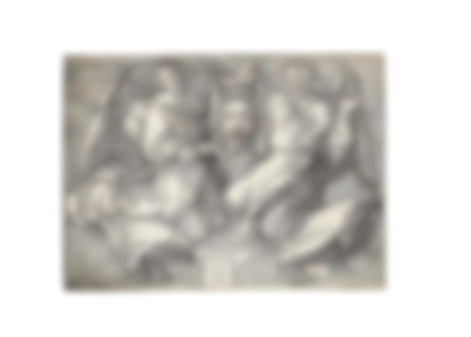 Albrecht Durer-Sudarium Held By Two Angels (Bartsch 25; Meder, Hollstein 26; Schoch, Mende And Scherbaum 68)-1513