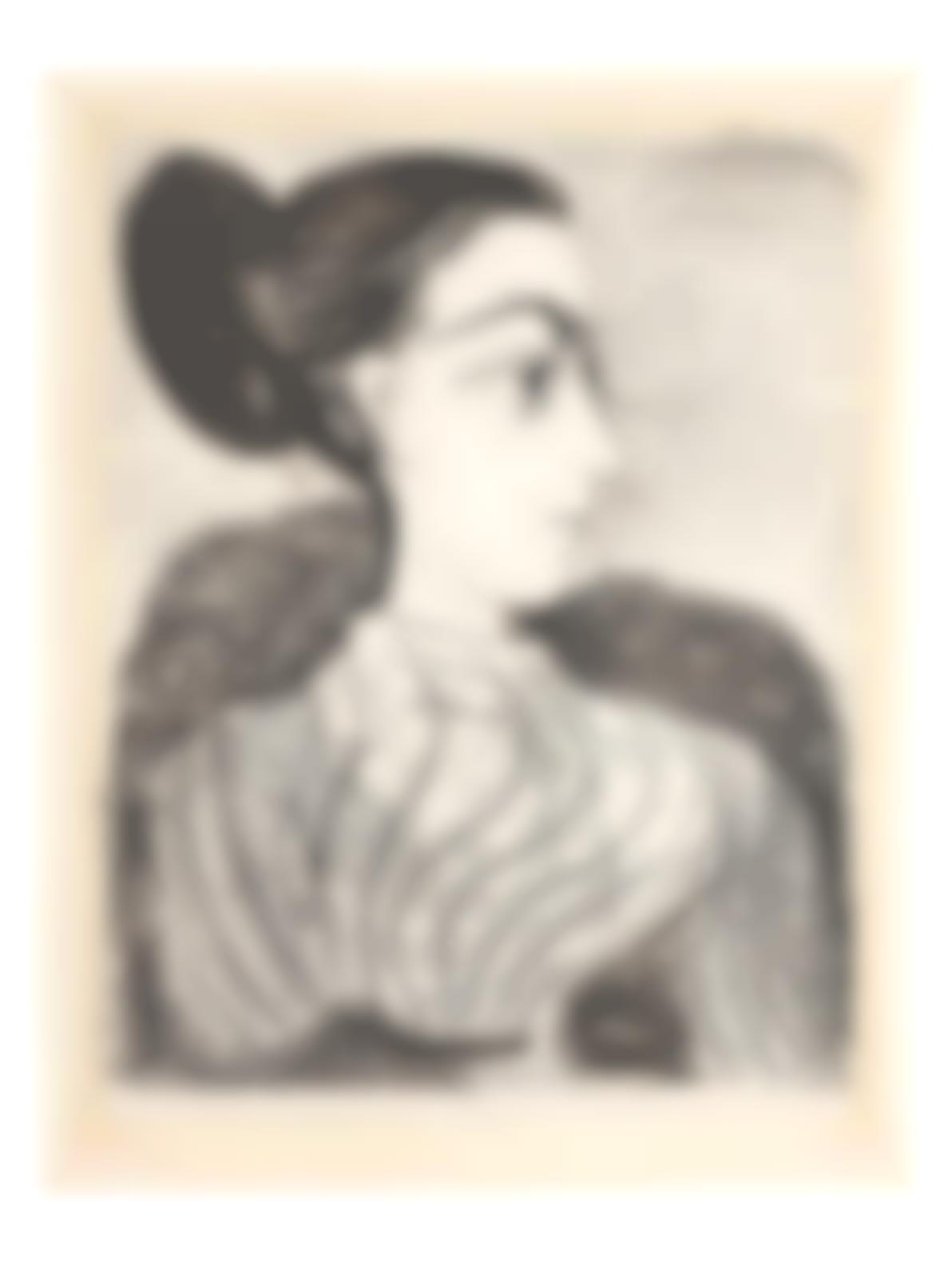 Pablo Picasso-Femme Au Chignon (Bloch 853; Mourlot 310)-1957
