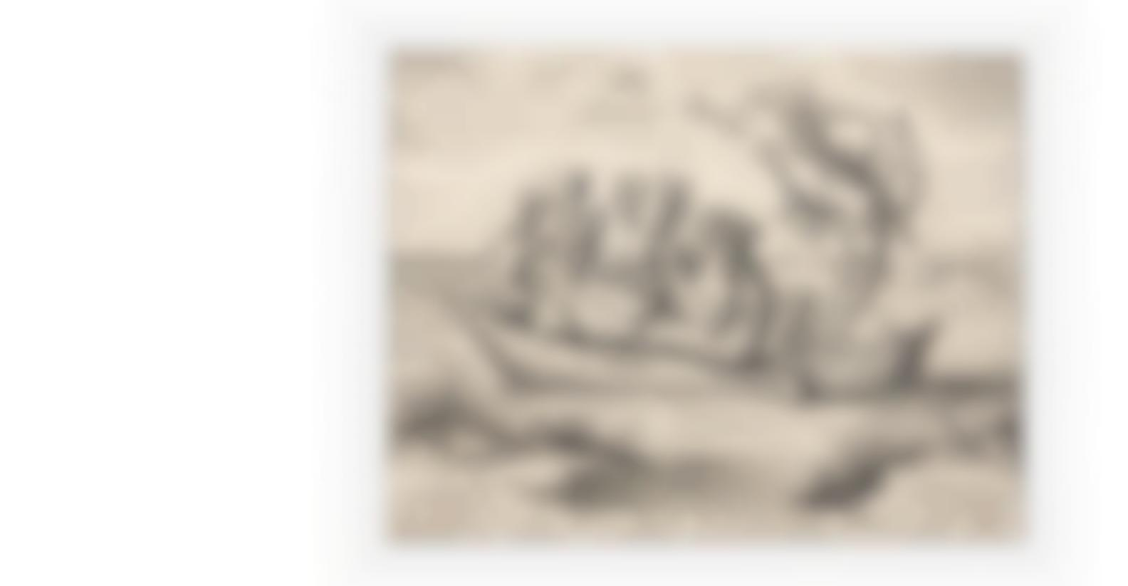 After Hieronymous Bosch - Die Blau Schuyte (The Ship Of Fools) (Hollstein 20)-1559