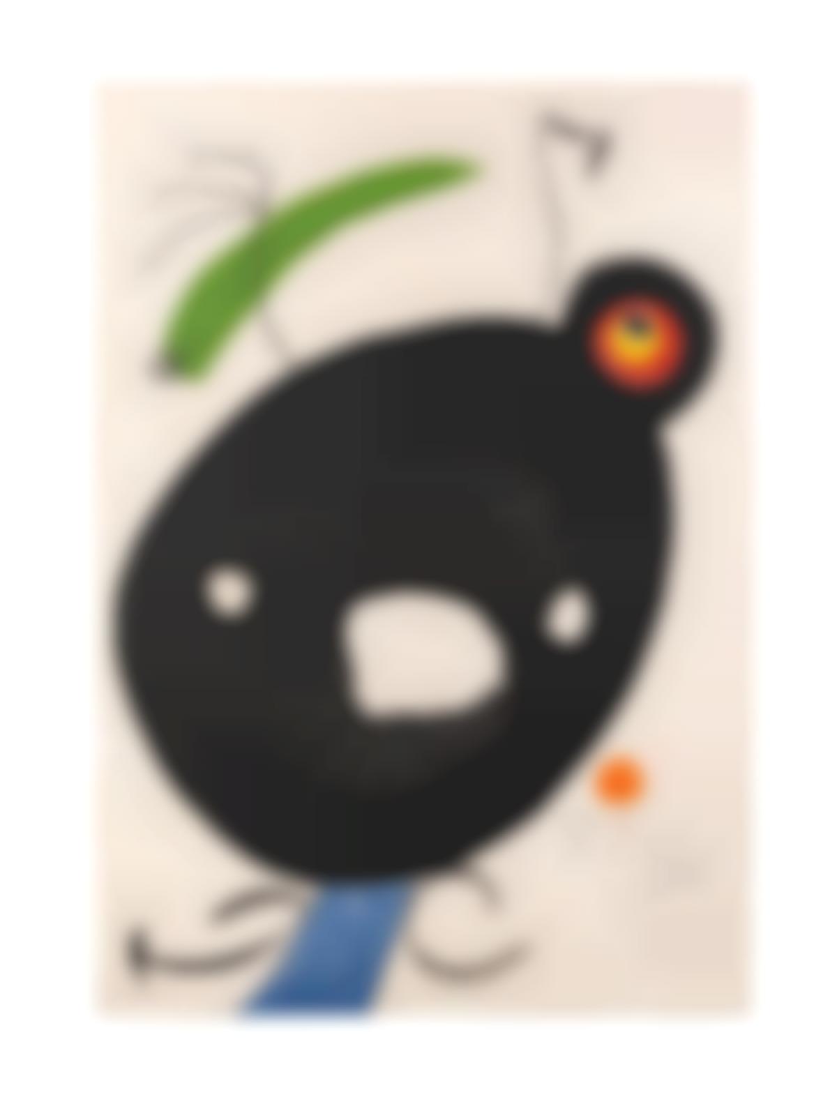 Joan Miro-Plate 2, From Quatre Colors Aparien El Mon (Dupin 823)-1975