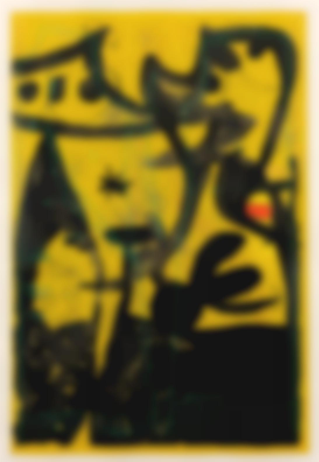 Joan Miro-Defile De Mannequins Au Perou (Mourlot 631)-1969