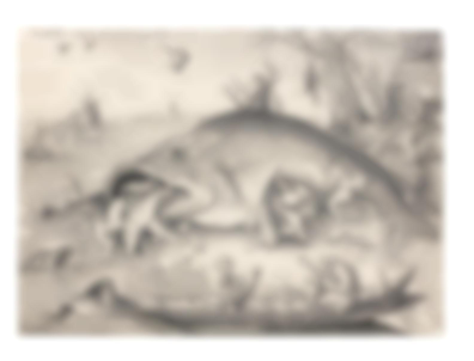 Pieter Bruegel the Elder-After Pieter Bruegel The Elder - The Big Fish Eat The Little Fish (Basteler 140; Lari 134A)-1641