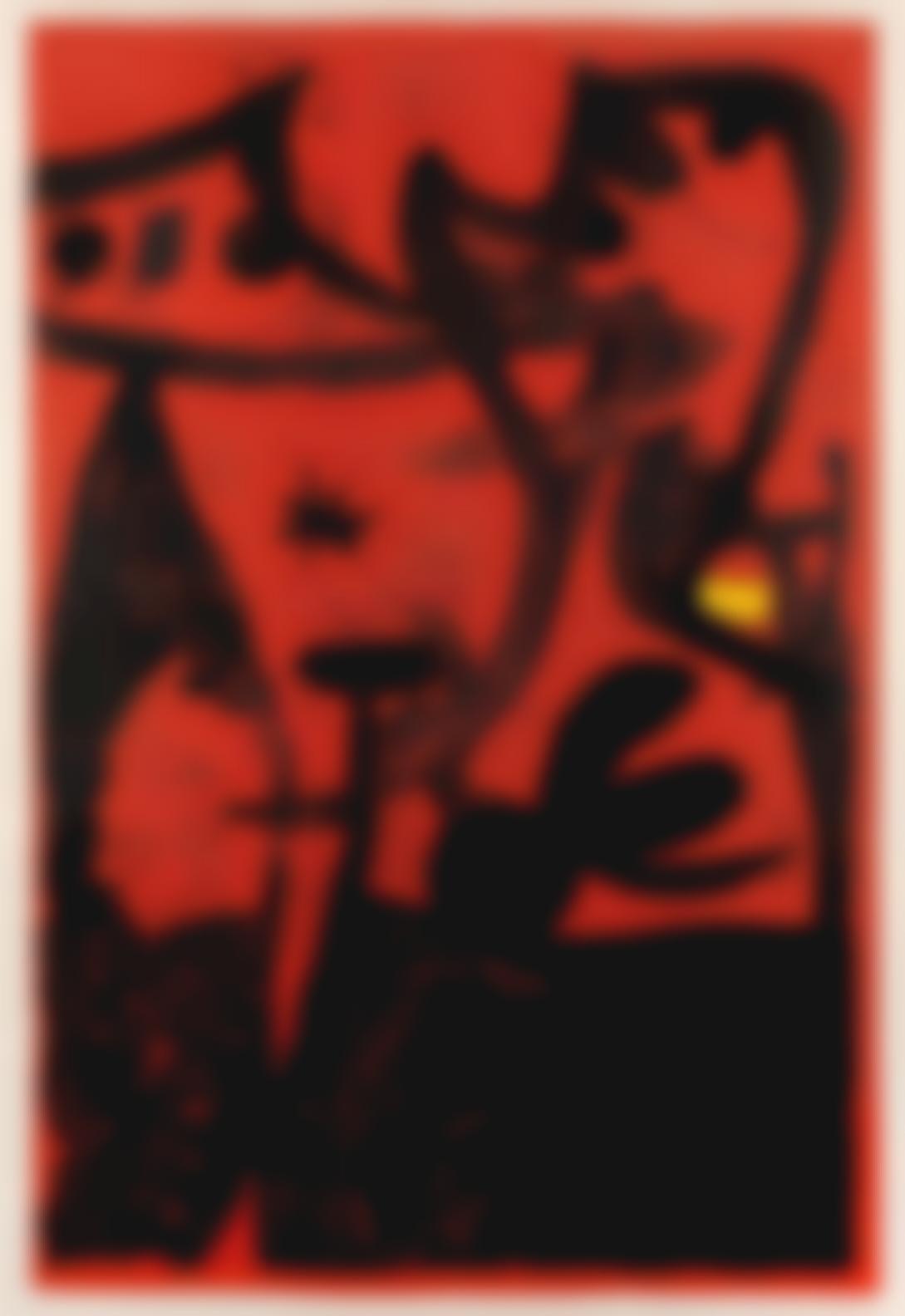 Joan Miro-Defile De Mannequins En Chine(Mourlot 632)-1969