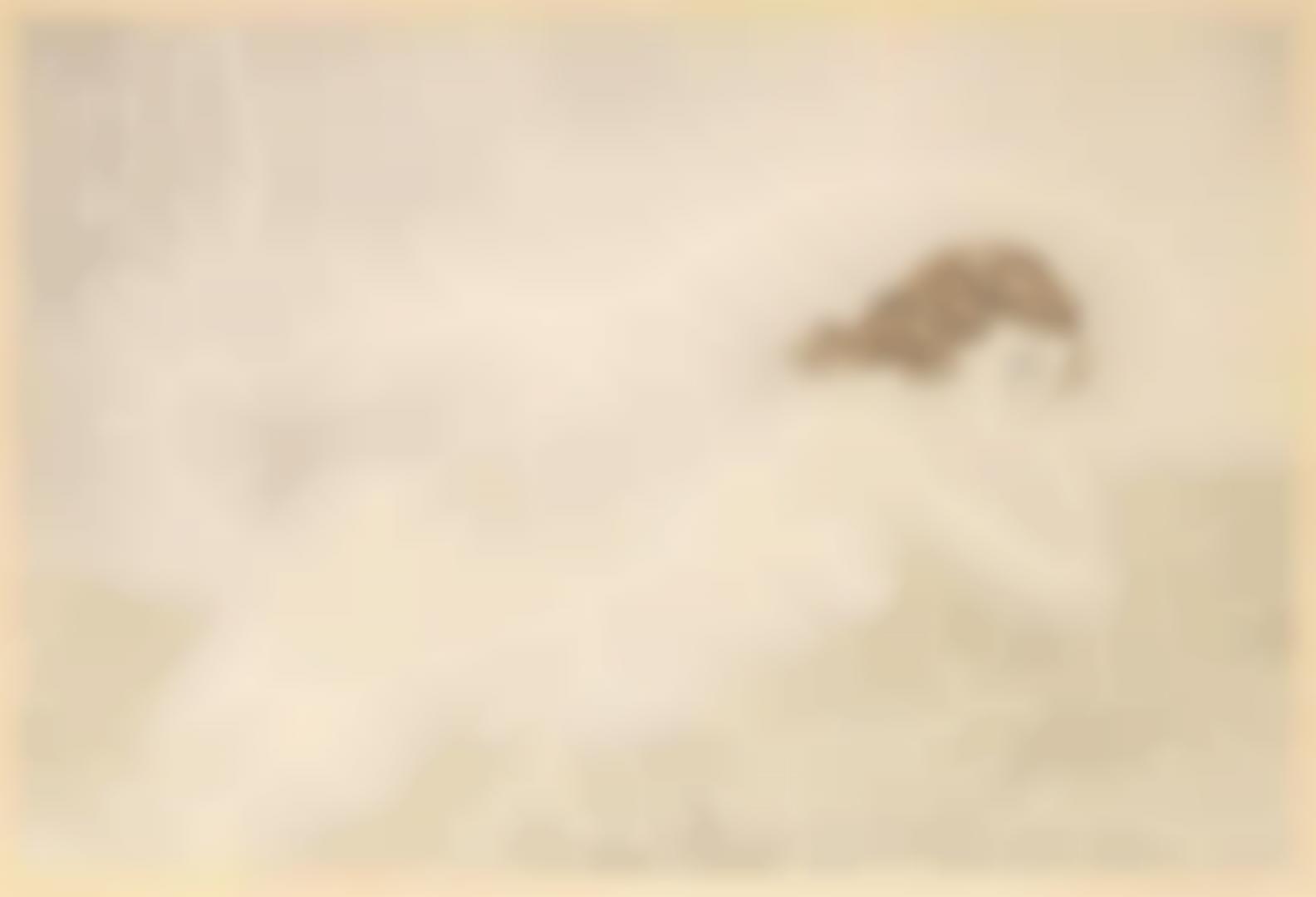 Tsuguharu Foujita-Femme Blonde Allongee (Buisson 30.76)-1930