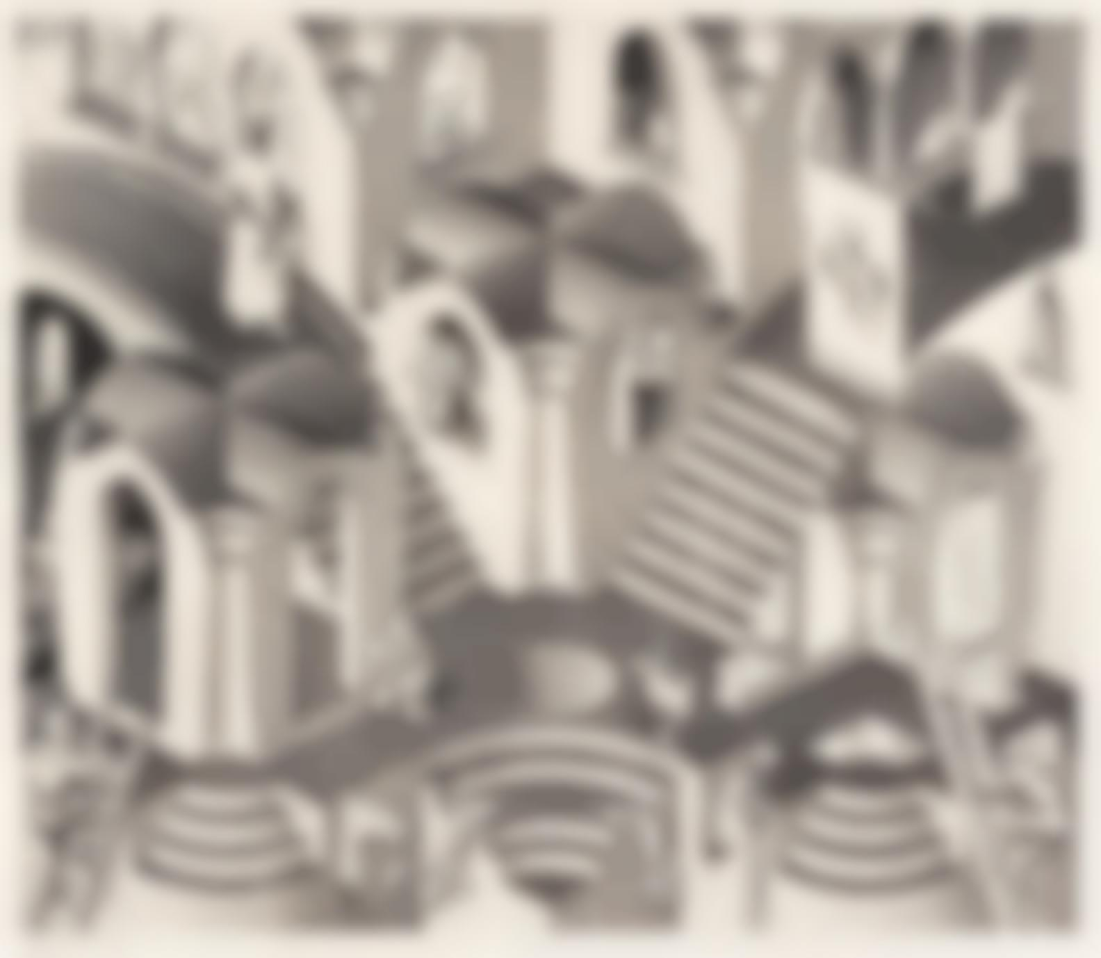 Maurits Cornelis Escher-Convex And Concave (Bool 399)-1955