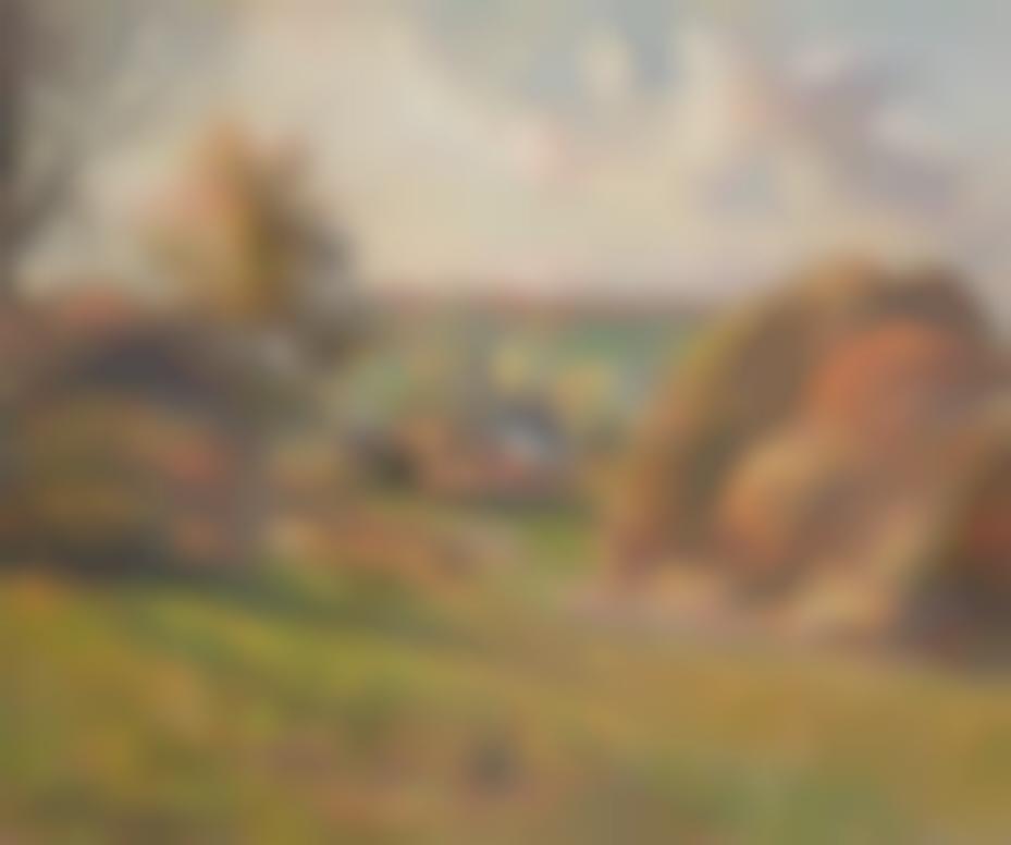 Camille Pissarro-Les Meules Et Le Clocher De Leglise A Eragny-1884