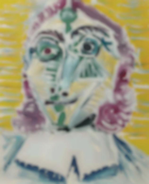 Pablo Picasso-Mousquetaire. Buste-1967