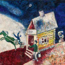 Marc Chagall-La Caleche Volante-1925