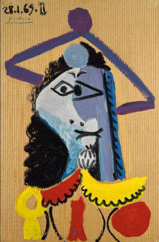 Pablo Picasso-Buste Dhomme-1969