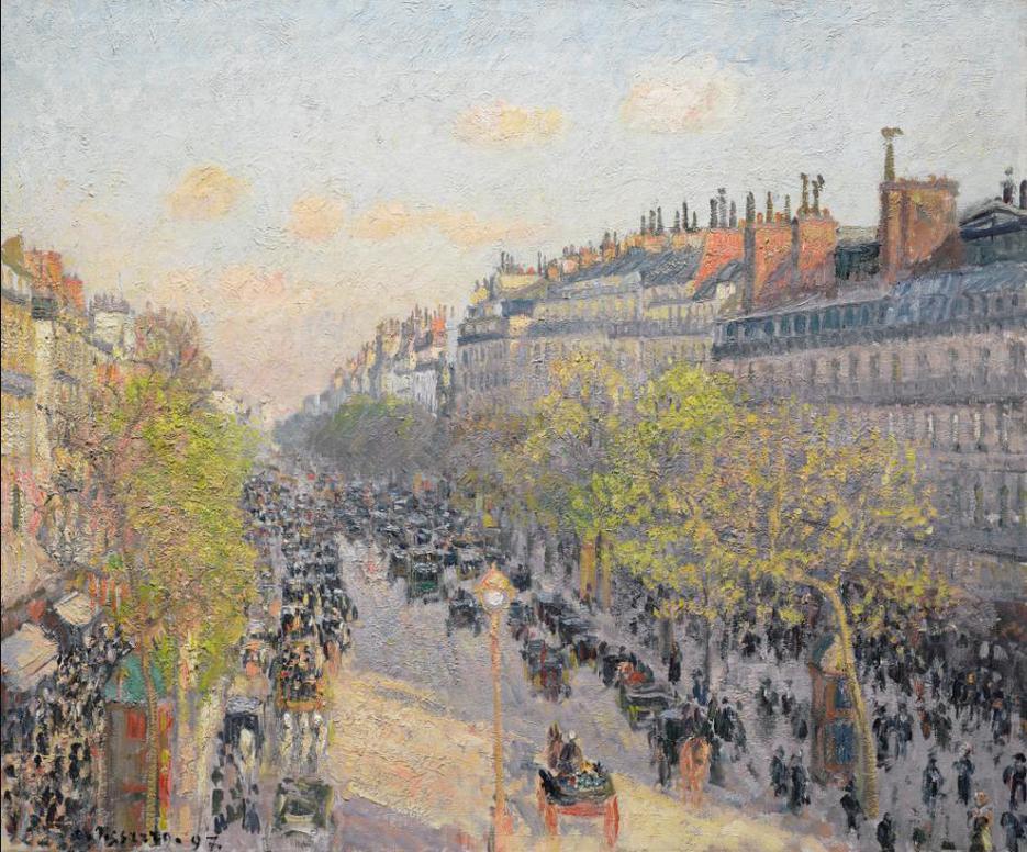 Camille Pissarro-Le Boulevard Montmartre, Fin De Journee-1897