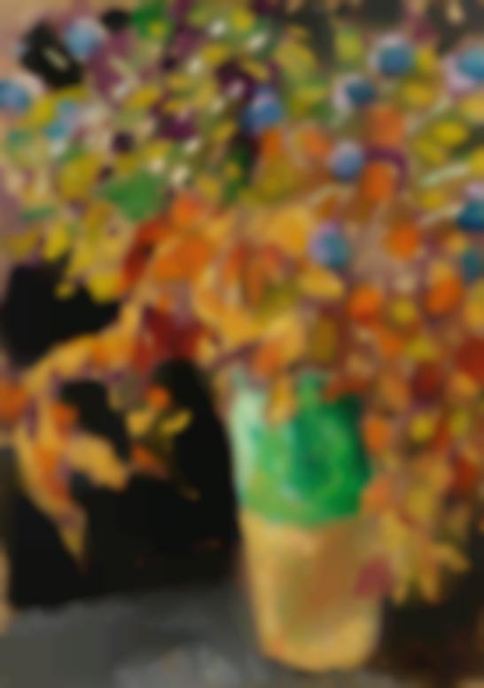 Louis Valtat-Fleurs Dans Un Vase Vert-1915