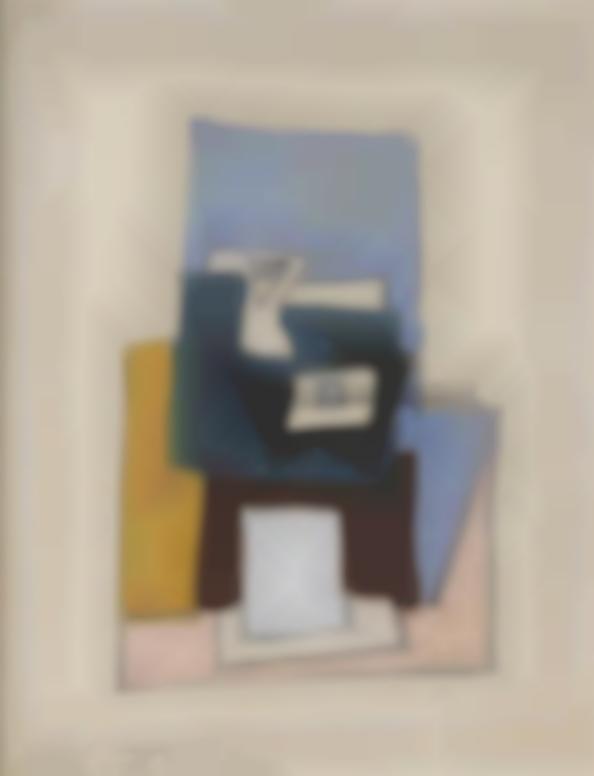 Pablo Picasso-Nature Morte Avec Guitare Et Compotier-1921