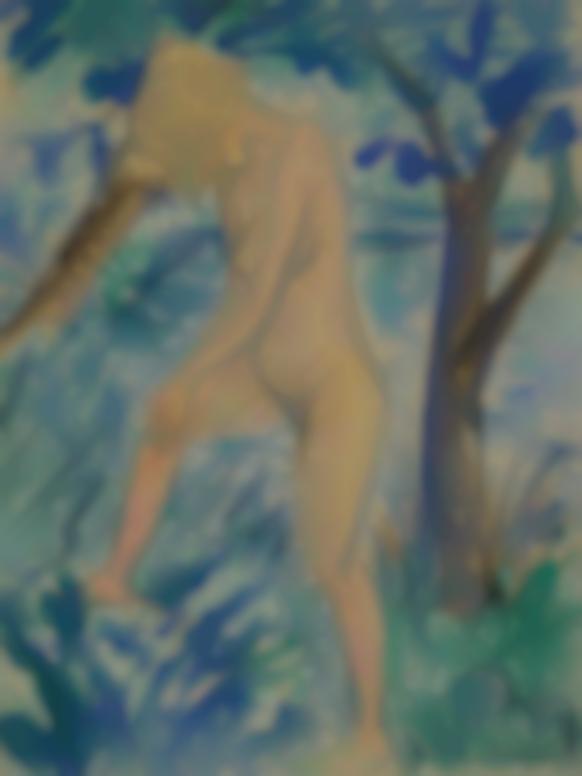 Otto Mueller-Akt Unter Baumen (Nude Under Trees)-1923