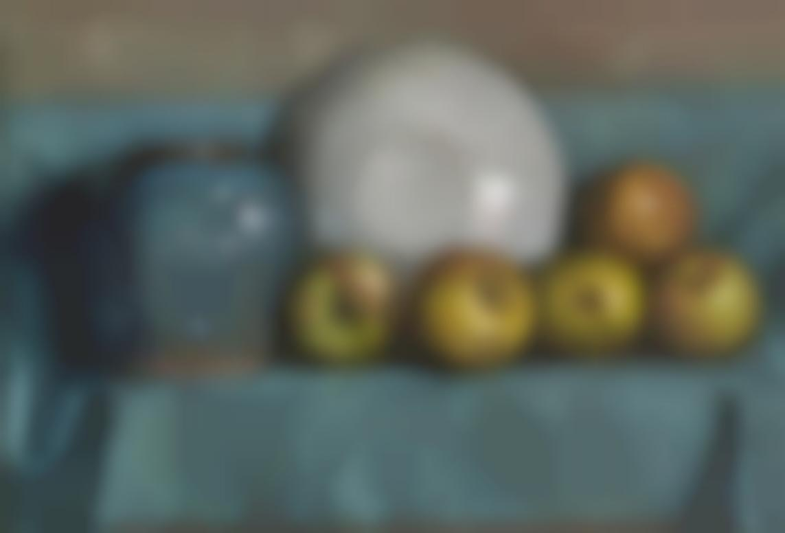 Piet Mondrian-Appels, Gemberpot En Bord Op Een Richel (Apples, Ginger Pot And Plate On A Ledge)-1901