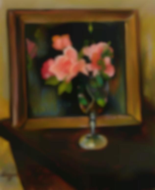 Suzanne Valadon-Fleurs, Dans Un Verre, Devant Une Glace-1928