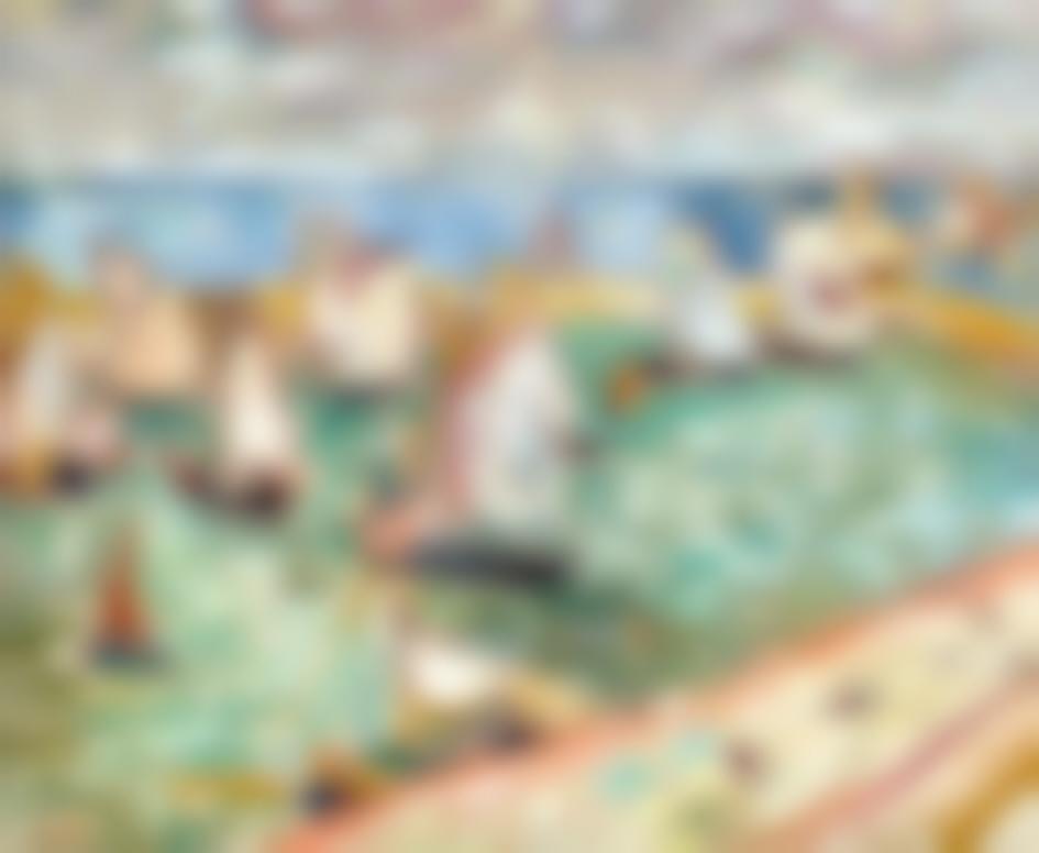 Louis Valtat-Voiliers Au Port, Port En Bessin-1907