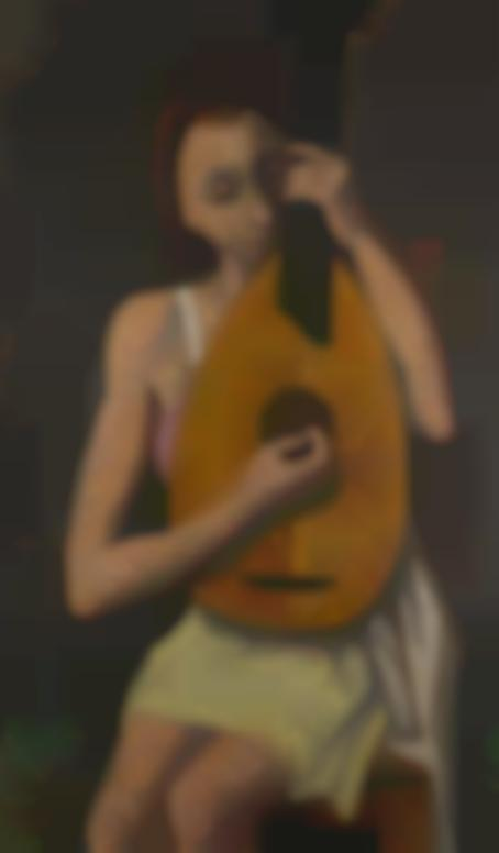 Karl Hofer-Madchen Mit Laute (Girl With Lute)-1946