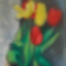 Moise Kisling-Vase De Tulipes-1922