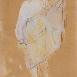 Auguste Rodin-Femme Tenant Son Vetement-1895
