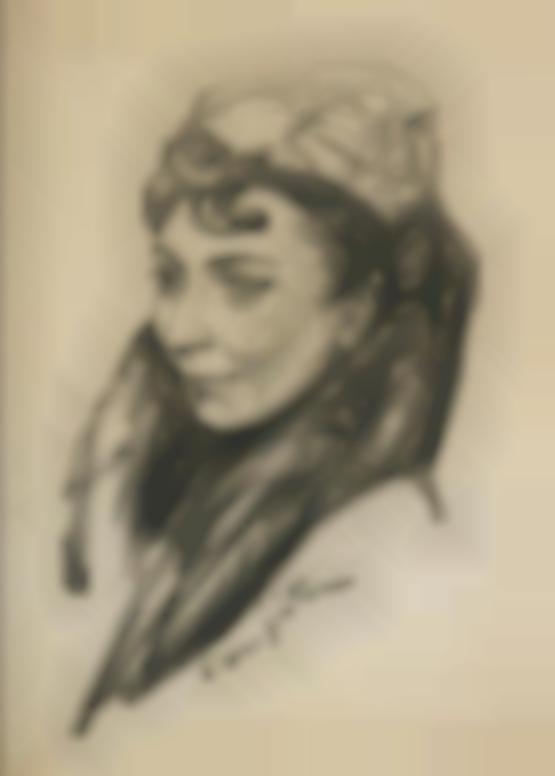 Tsuguharu Foujita-Portrait De Jeune Femme En Manteau-1955