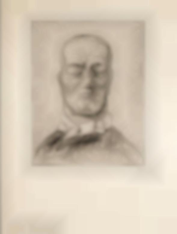 Alfred Kubin-Kopf Eines Kranken (Head Of Sick Man)-1921