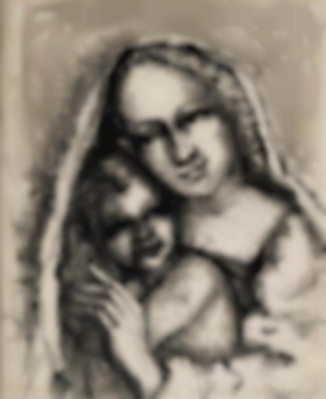 Alfred Kubin-Madonna Mit Kind (Madonna And Child)-1950