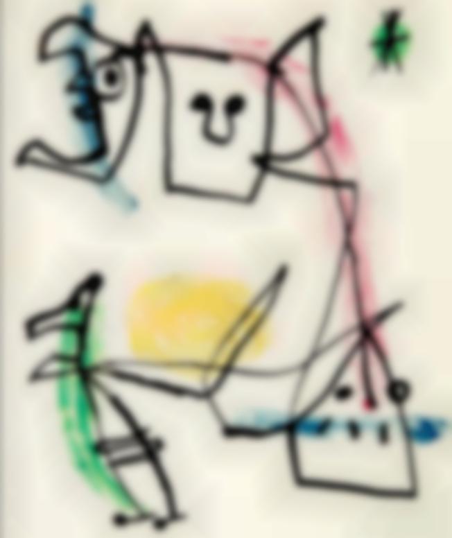 Joan Miro-Sans Titre-1956