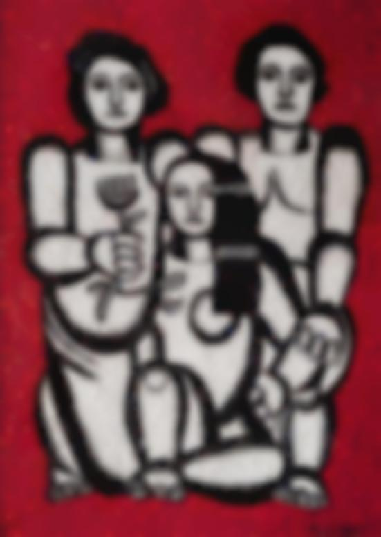 Fernand Leger-After Fernand Leger - Les Trois Femmes-1990