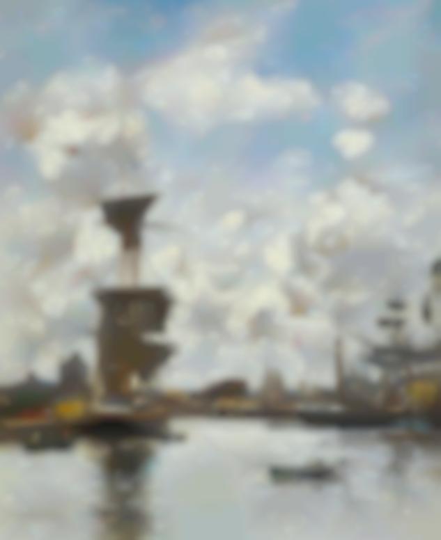 Eugene Louis Boudin-Deauville, Le Bassin-1884
