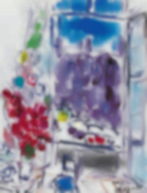Marc Chagall-La Fenetre (Etude)-1959