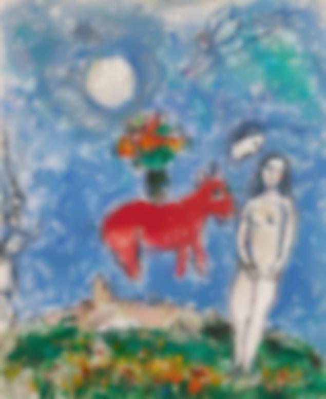 Marc Chagall-La Chevre Rouge-1980