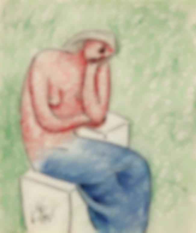 Julio Gonzalez-Femme Assise Pensive-1936