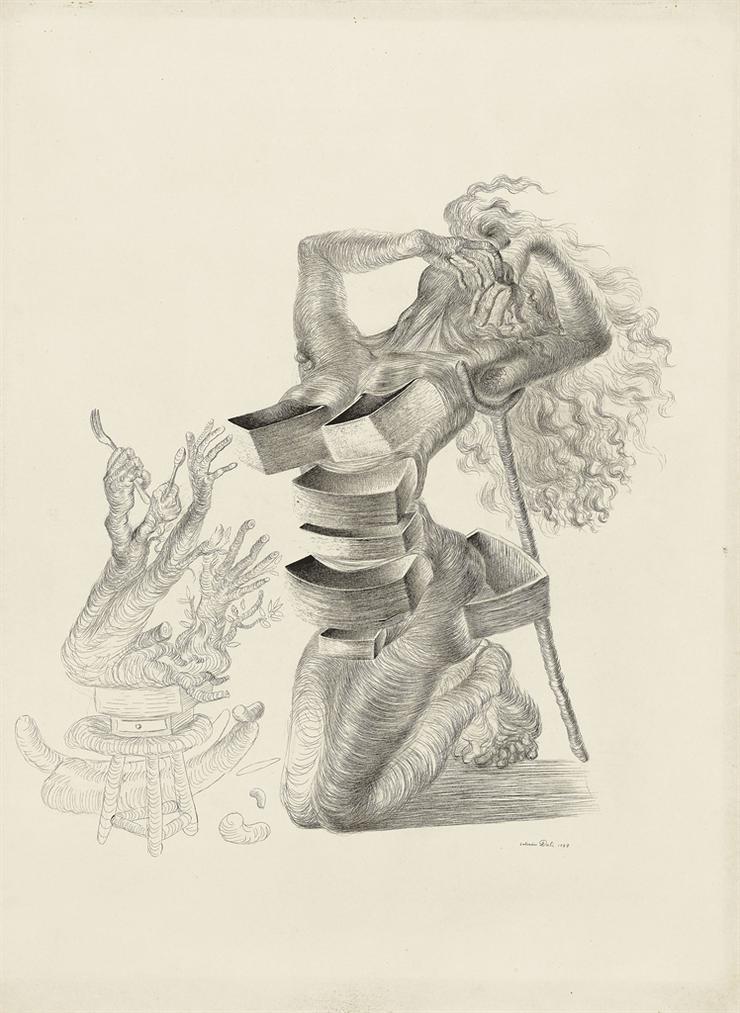 Salvador Dali-Figure Aux Tiroirs-1937