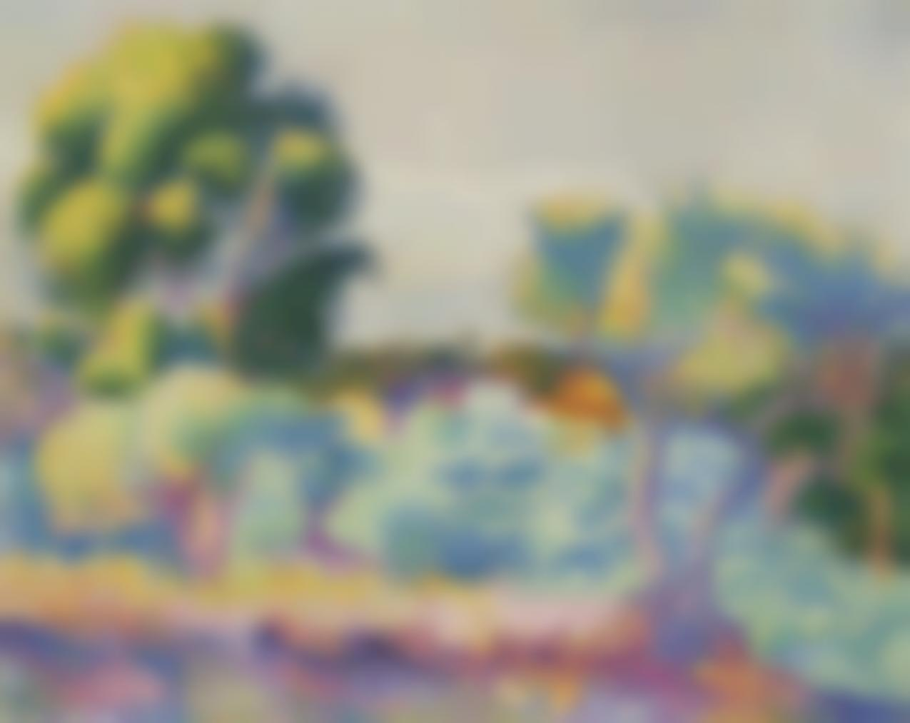 Henri-Edmond Cross-Eucalyptus Et Oliviers-1907