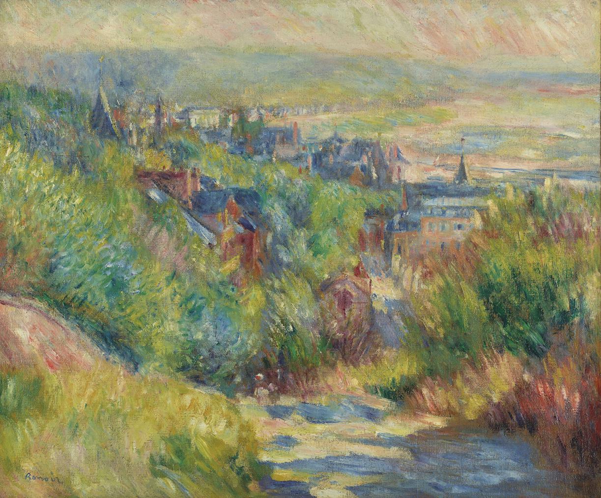 Pierre-Auguste Renoir-Les Hauteurs De Trouville-1885