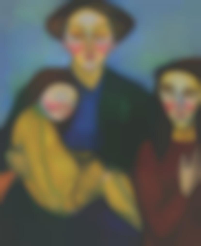 Sonia Delaunay-Deux Femmes Et Un Enfant-1907