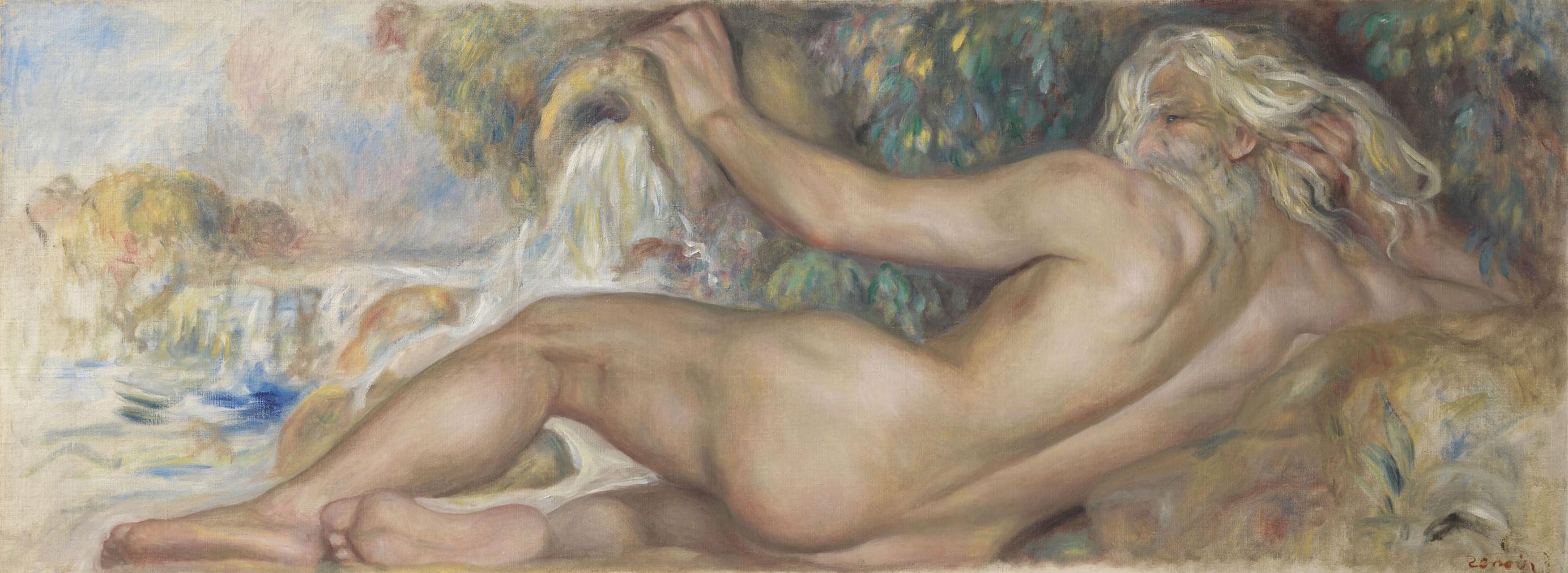 Pierre-Auguste Renoir-Nu Dans Un Paysage Or Le Fleuve-1885