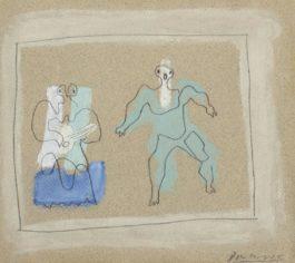 Pablo Picasso-Mercure Le Rideau-1924