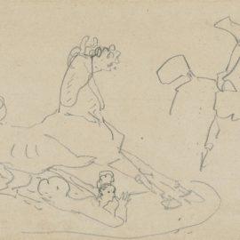Henri de Toulouse-Lautrec-Femme Desarconnee-1880