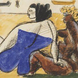 Le Corbusier-Deux Femmes Sur La Plage-1936