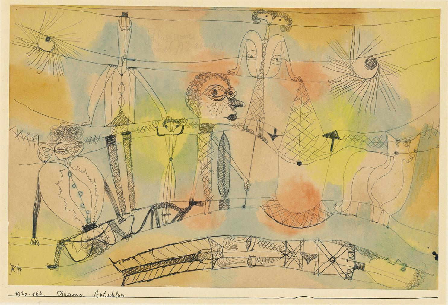 Paul Klee-Drama Aktschluss (Drama, End Of Act)-1920