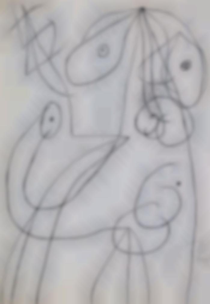 Joan Miro-Personnage, Oiseau-1977