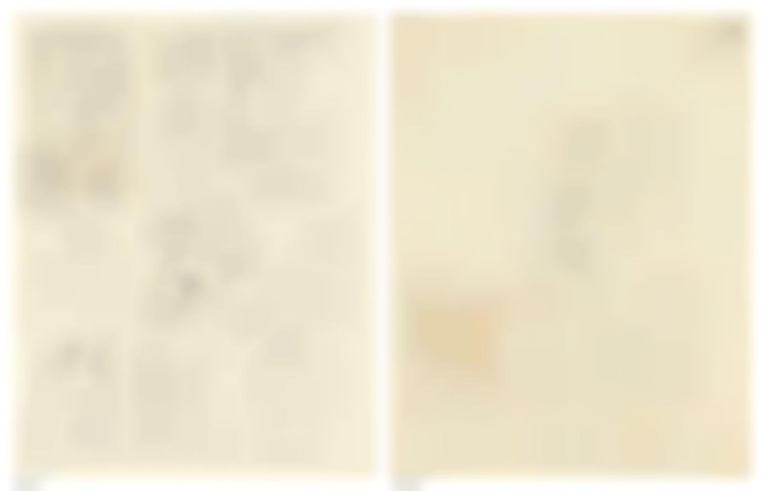 Rene Magritte-Esquises Pour Les Necessites De La Vie Et Les Consequences Des Reves Precedes Dexemples (Recto); Croquis (Verso)-