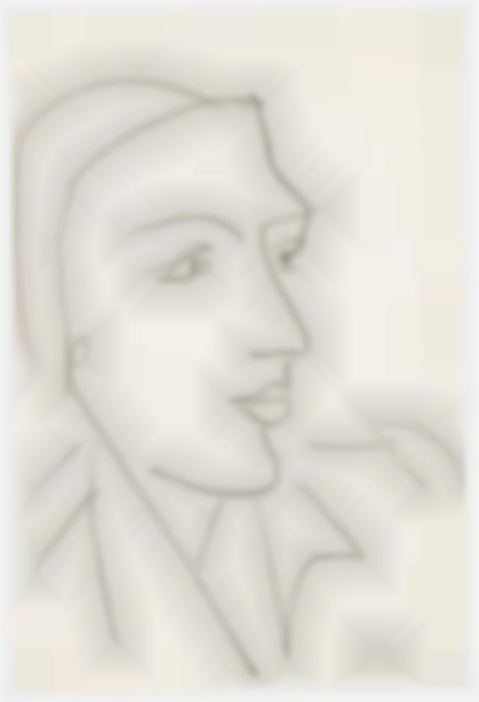 Henri Matisse-Tete De Profil-1950