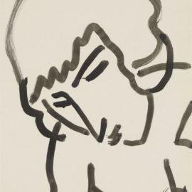 Henri Matisse-Tete Penchee-1950