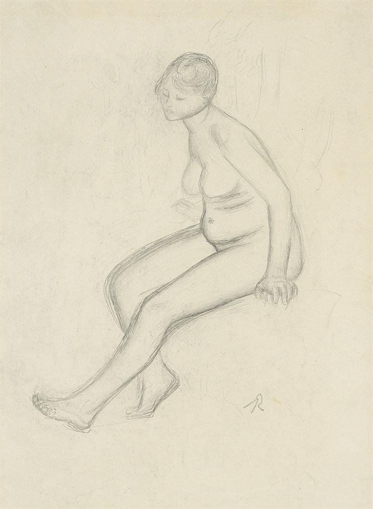 Pierre-Auguste Renoir-Etude De Nu-1885
