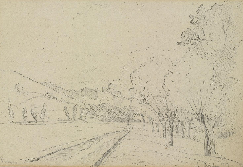Camille Pissarro-La Roche Guyon-1859